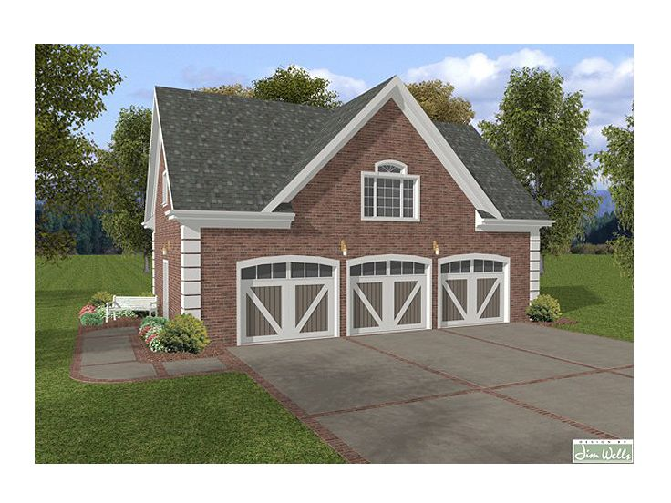 3-Car Garage Loft Plan, 007G-0005
