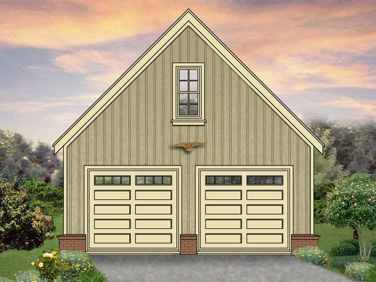 Two Car Garage Plans 2 Car Garage Plan With Front Facing