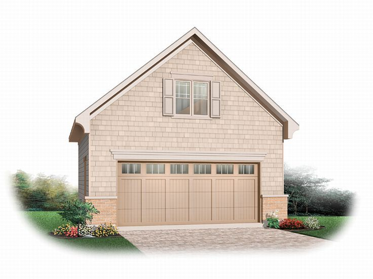 Garage loft plans detached 2 car garage loft plan 028g for Two car garage with loft