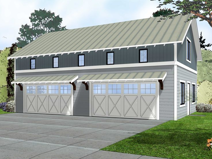 4 Car Garage Plans Unique Four Car Plan Doubles