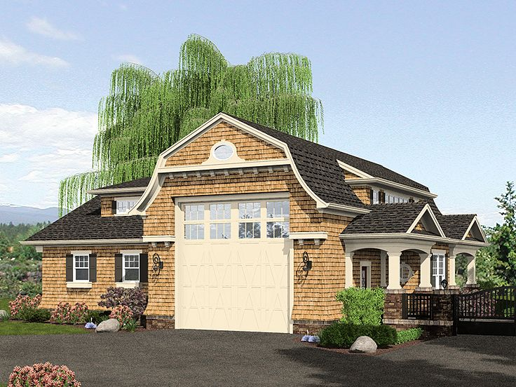 Home Plans With Drive Through Garage