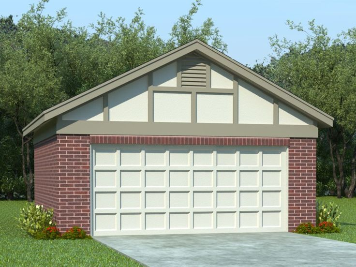 Two car garage plans 2 car garage plan with reverse for How big is a two car garage