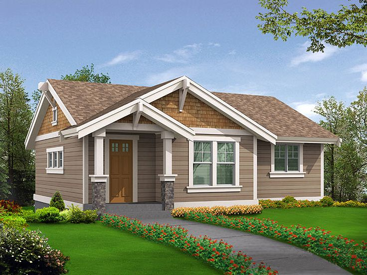Garage apartment plans 1 story garage apartment plan for Single car garage with apartment