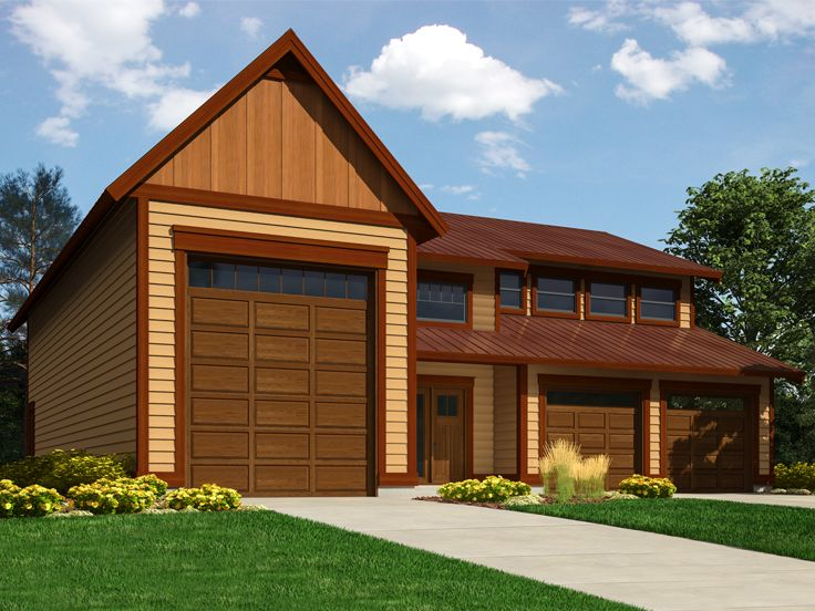 RV Garage Apartment Plan, 010G-0029