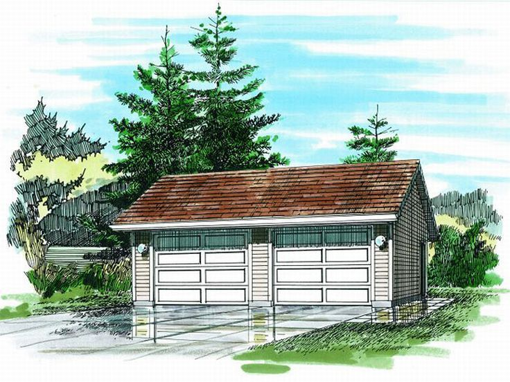2-Car Garage Plan, 033G-0021