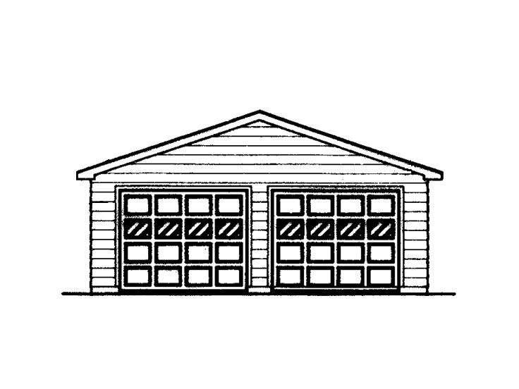 2-Car Garage Plan, 057G-0012
