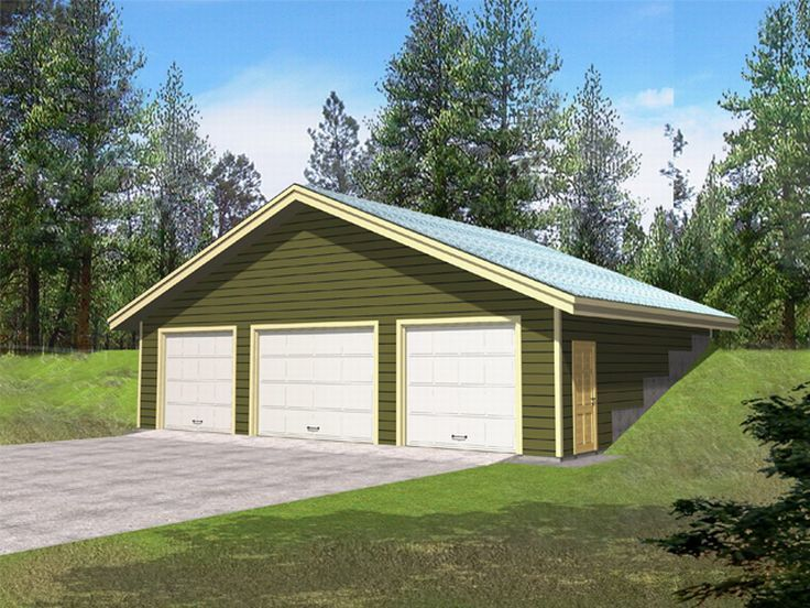 Plan 012g 0025 garage plans and garage blue prints from for Garage plans with boat storage
