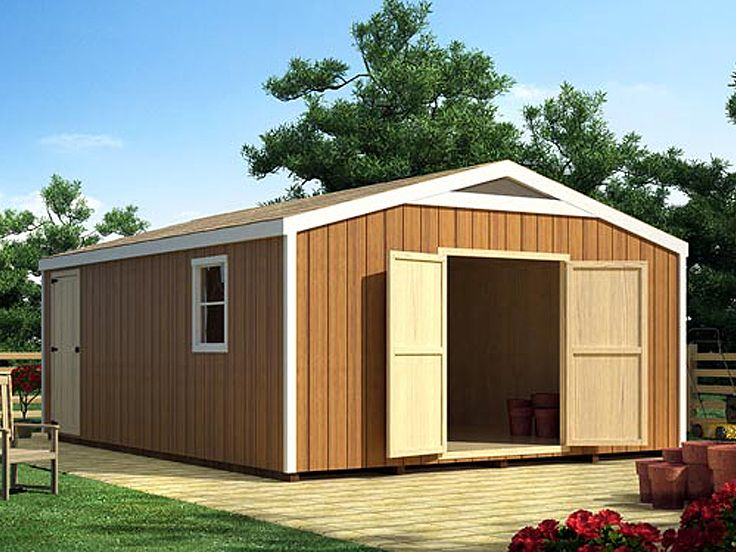 Storage Shed Plan, 047S-0010