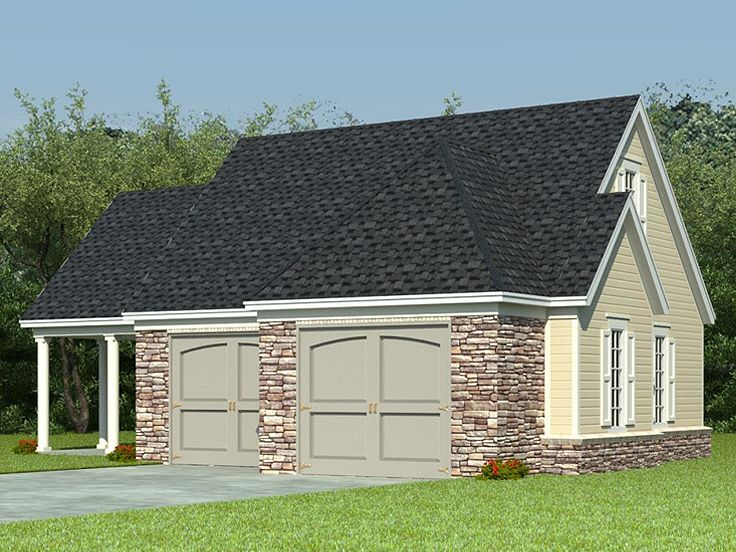Boat storage garage plans 2 car garage loft plan with for Garage plans with boat storage