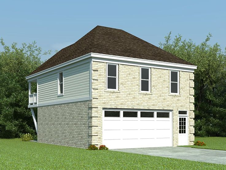 Garage apartment plans carriage house plan with 2 car for Single car garage with apartment above plans