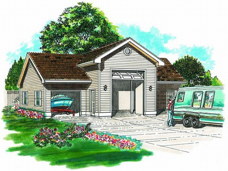 Garage plans with boat storage boat storage garage with for Garage plans with boat storage