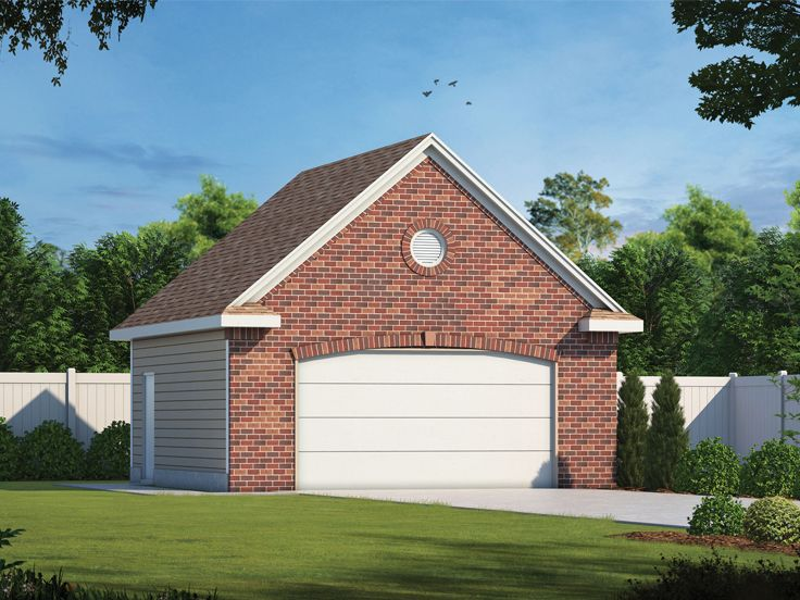 2 Car Garage Plans Traditional Two Car Garage Plan