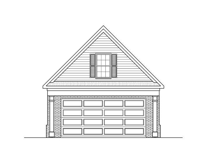 Garage loft plans detached 2 car loft garage plan 24 for Loft over garage floor plans