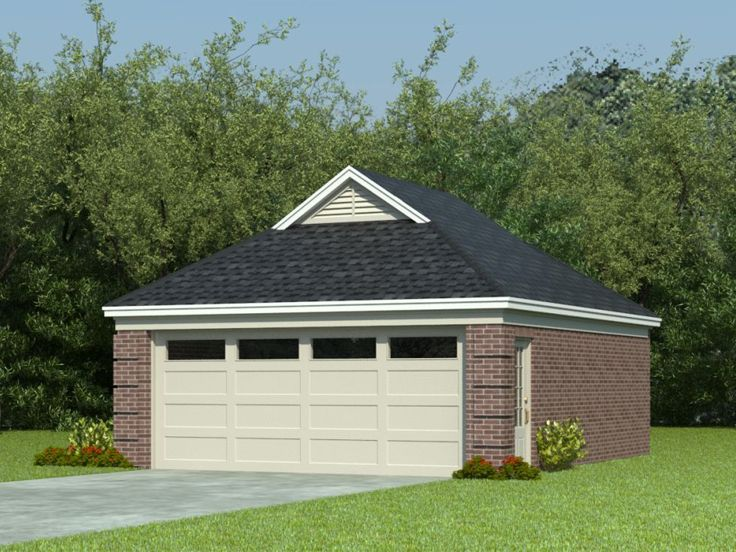 Two-Car Garage Plan, 006G-0023