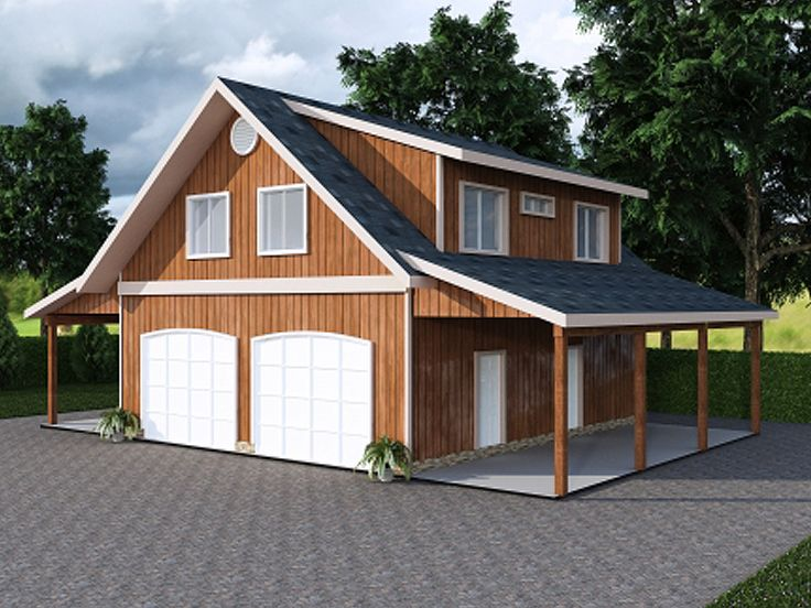 Plan 012g 0047 garage plans and garage blue prints from for Carport apartment plans