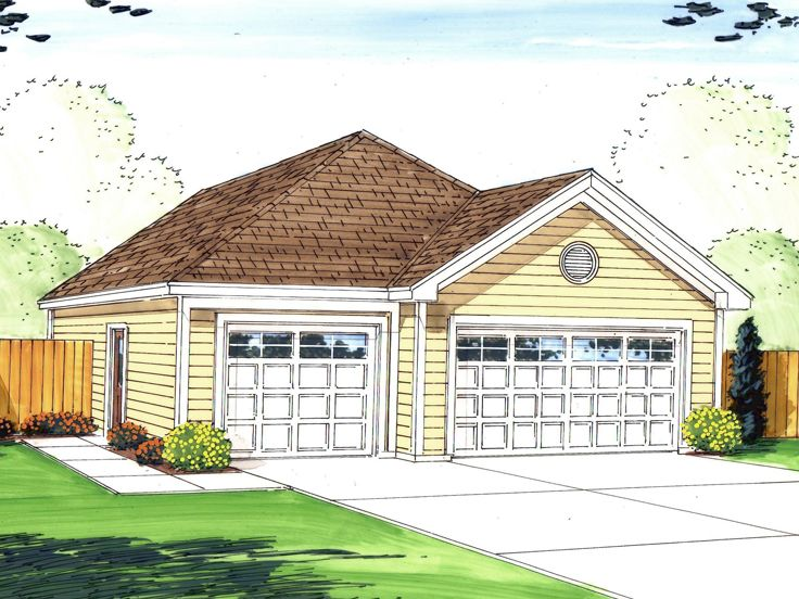 Tandem garage plans tandem garage plan parks 6 cars for Tandem garage house plans