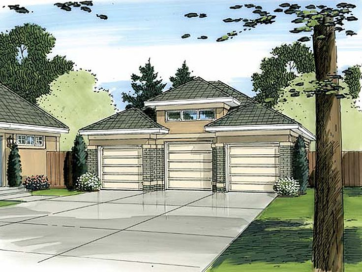 3-Car Garage Plan, 050G-0007