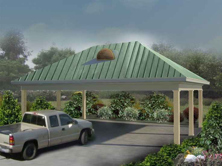 Carport Plans Open Air Carport Plan 006g 0125 At