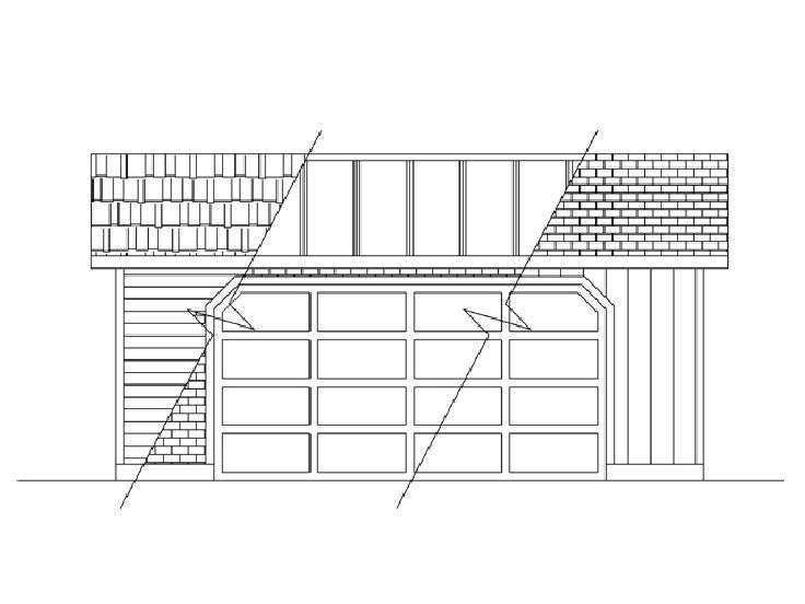 Two Car Garage Plan, 013G-0002