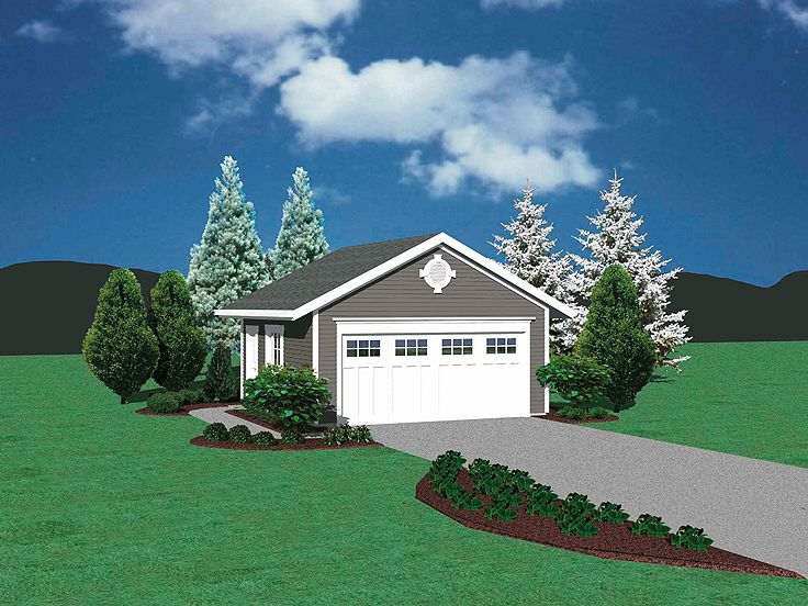 2 Car Garage Plan, 034G-0009