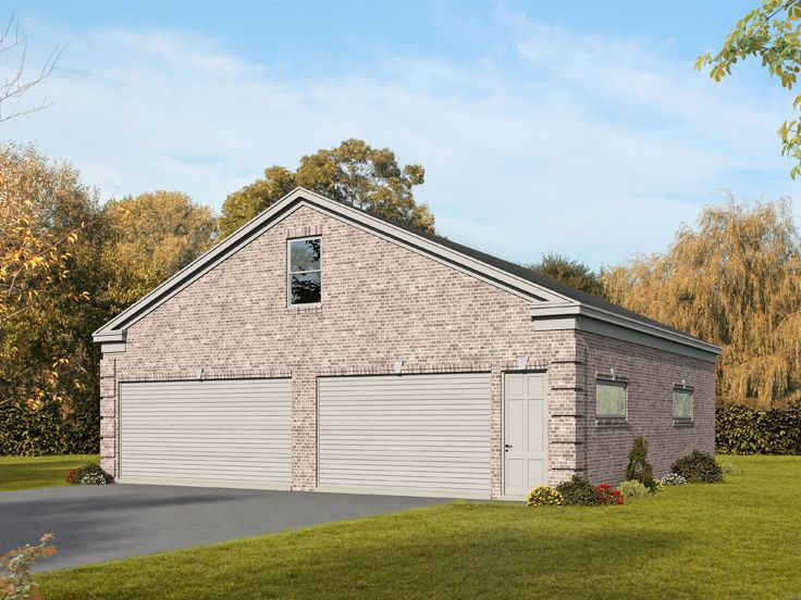 Plan 062g 0129 garage plans and garage blue prints from for 4 car tandem garage