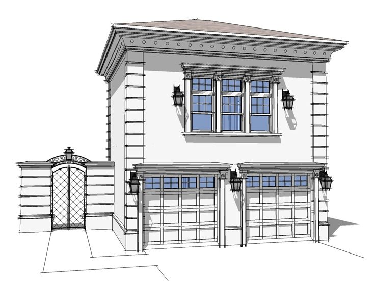 Unique garage plans 2 car garage with guest suite plan Unique garage designs