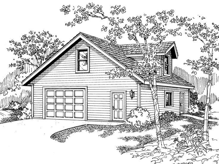 Garage Loft Plans | Garage Loft Plan with Boat Storage Design # 051G ...