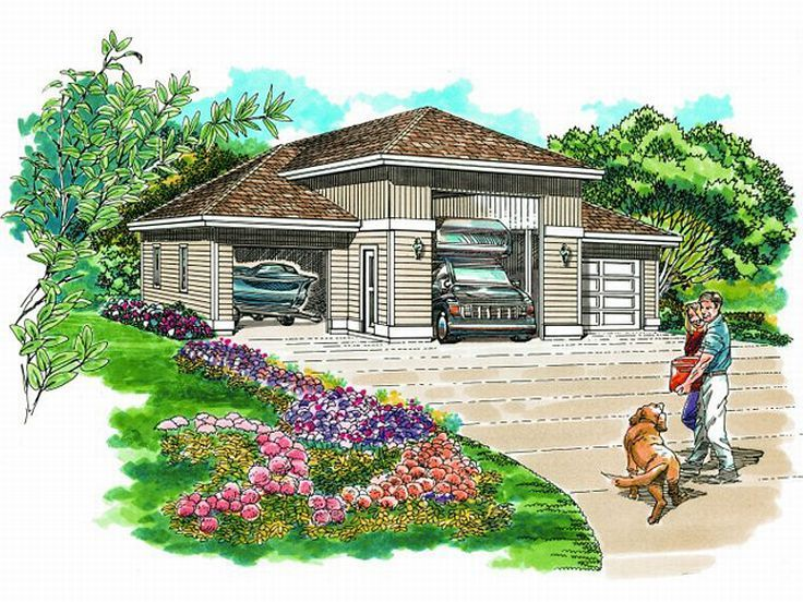 RV Garage Plan, 033G-0020