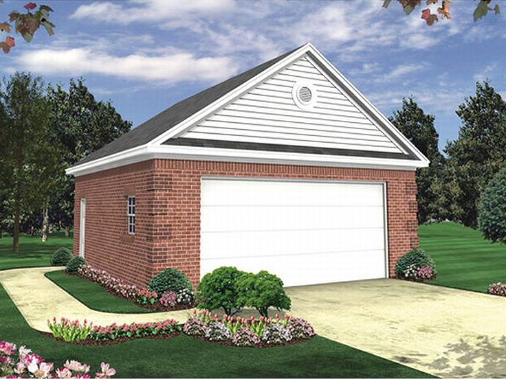 Two car garage plans 2 car garage plan 001g 0001 at for How big is a standard two car garage