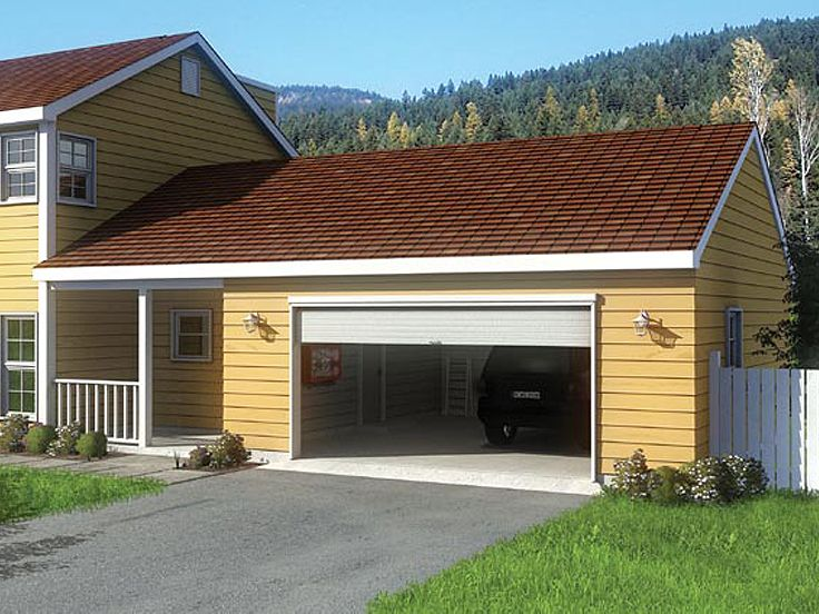 Plan 047g 0013 garage plans and garage blue prints from for 2 car garage addition plans