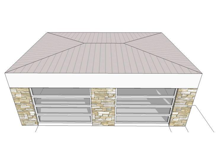 2 car garage plans modern 2 car garage plan 052g 0007 for Flat roof garage plans modern