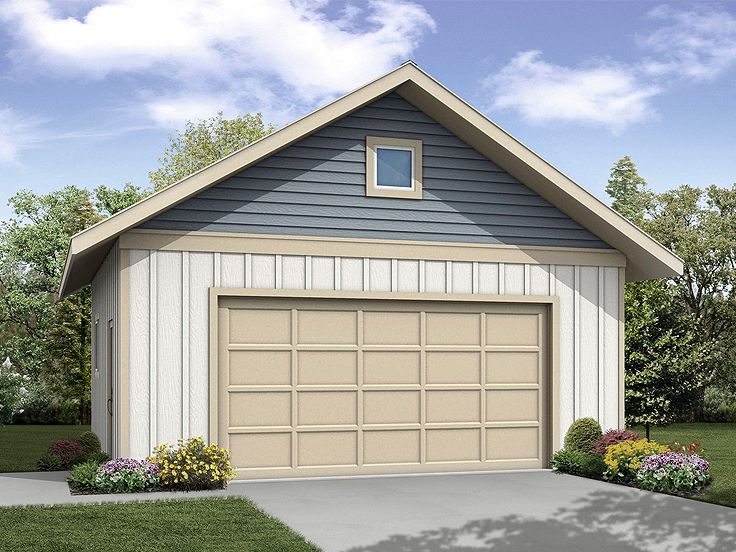 2 Car Garage Plans Simple Two Car Garage Plan 051g