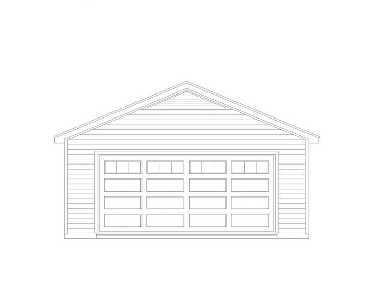 Garage Plans With Storage Simple 2 Car Garage Plan With