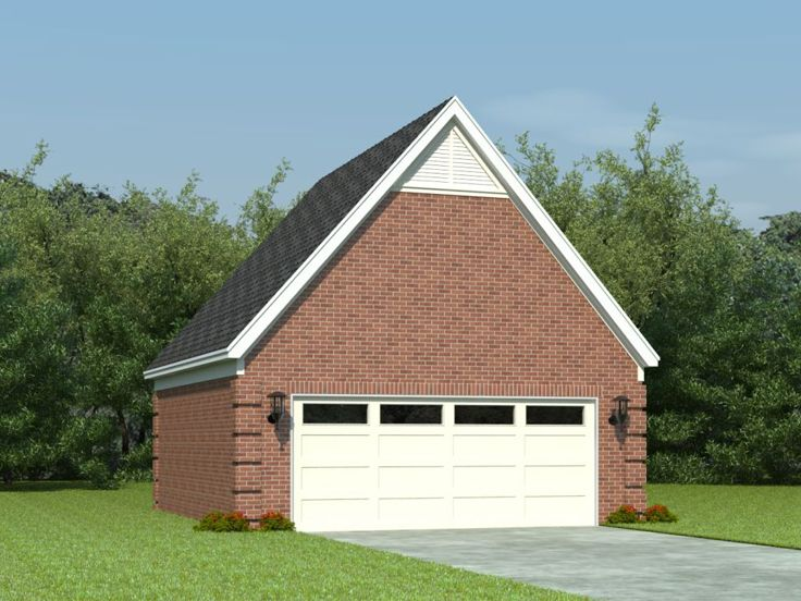 Garage loft plans two car garage loft plan 006g 0032 for Two car garage with loft