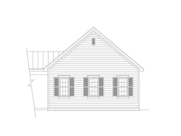 Three-Car Garage Plan, 006G-0131