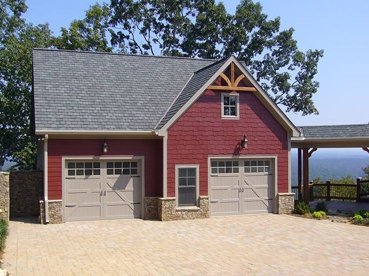 Carriage house plans carriage house with 2 car garage for Rv garage plans with living space