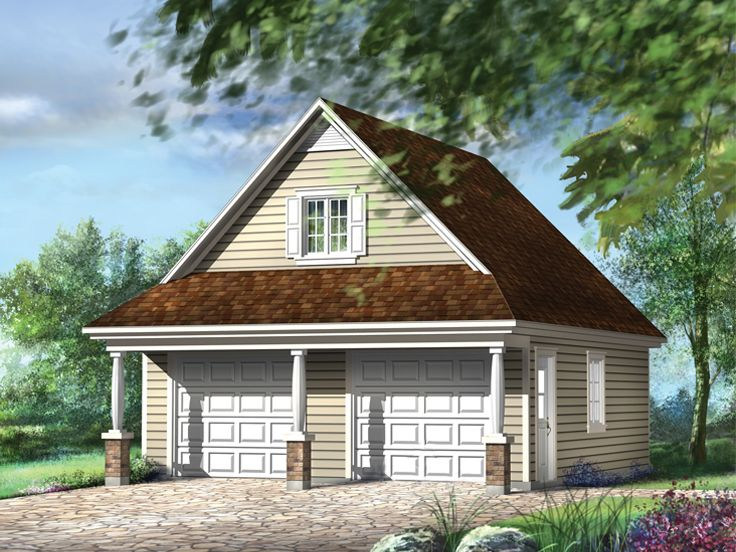 Garage plans with loft country style 2 car garage plan for 2 car garage with loft