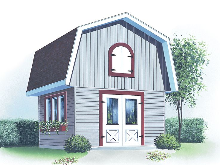 Storage Shed Plan, 028S-0015