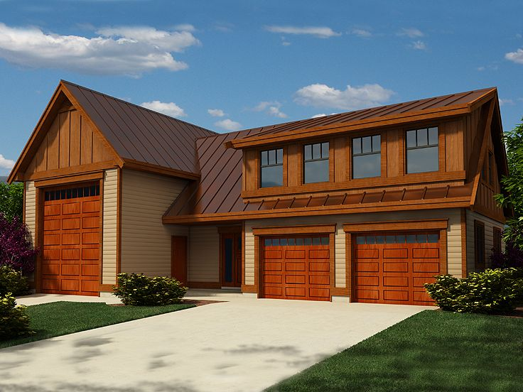 Rv garage plans rv garage plan with future apartment for Rv garage with living quarters