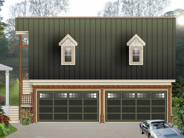 Garage Apartment Plans | 4-Car Garage Apartment Plan # 006G-0142 at ...