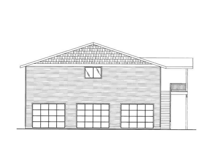 Garage Apartment Plan, 012G-0054