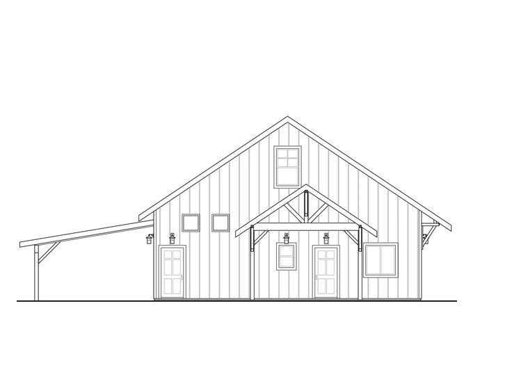 Garage Plans With Flex Space 1 Car Garage Plan With