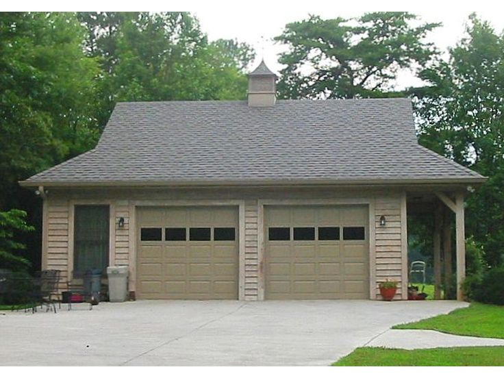2 car garage plans detached two car garage plan with for Single car detached garage plans
