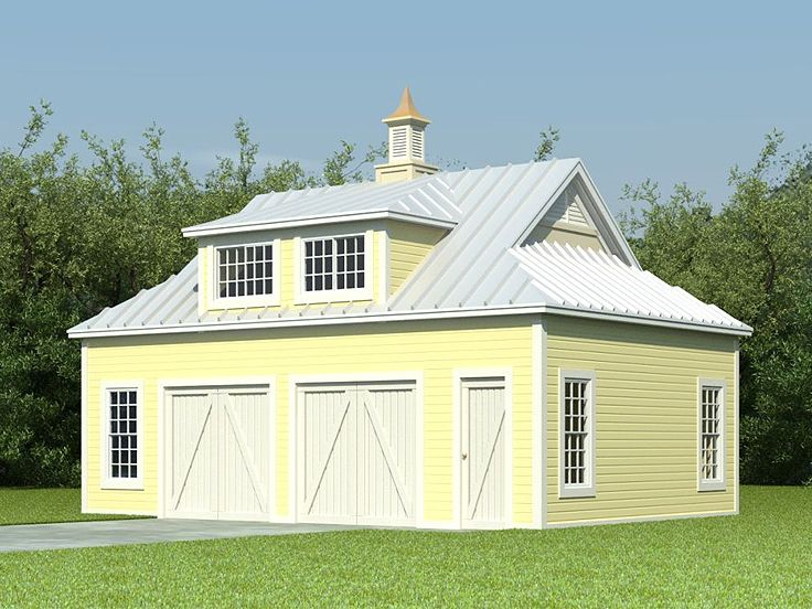 Garage apartment plans barn style garage apartment plan for Prefab garage with living quarters above